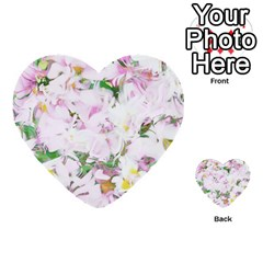 Soft Floral, Spring Multi Purpose Cards (heart)