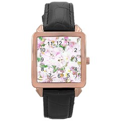 Soft Floral, Spring Rose Gold Watches by MoreColorsinLife