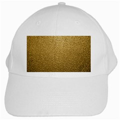 Gold Plastic White Cap by trendistuff