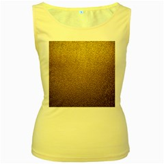 Gold Plastic Women s Yellow Tank Tops by trendistuff