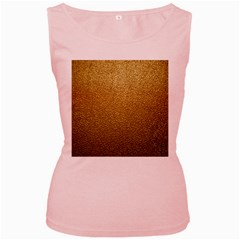 Gold Plastic Women s Pink Tank Tops by trendistuff