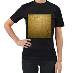 Gold Plastic Women s T-shirt (black) (two Sided) by trendistuff