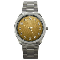 Gold Plastic Sport Metal Watches by trendistuff