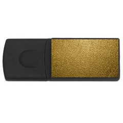 Gold Plastic Usb Flash Drive Rectangular (4 Gb)  by trendistuff