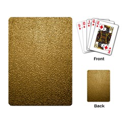 Gold Plastic Playing Card by trendistuff