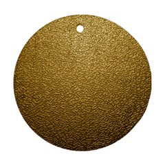 Gold Plastic Round Ornament (two Sides)  by trendistuff