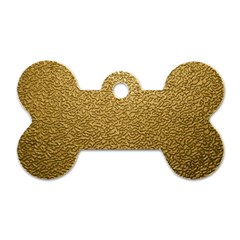 Gold Plastic Dog Tag Bone (one Side) by trendistuff