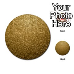Gold Plastic Multi-purpose Cards (round)  by trendistuff