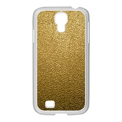 Gold Plastic Samsung Galaxy S4 I9500/ I9505 Case (white) by trendistuff