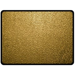 Gold Plastic Double Sided Fleece Blanket (large)  by trendistuff