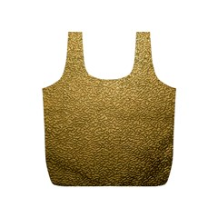 Gold Plastic Full Print Recycle Bags (s)  by trendistuff
