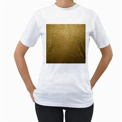 Gold Plastic Women s T-shirt (white)  by trendistuff
