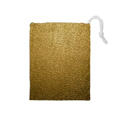 Gold Plastic Drawstring Pouches (medium)  by trendistuff