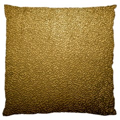 Gold Plastic Standard Flano Cushion Cases (one Side)  by trendistuff