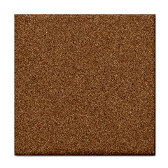 Dark Brown Sand Texture Tile Coasters by trendistuff