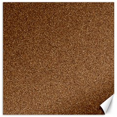 Dark Brown Sand Texture Canvas 12  X 12   by trendistuff