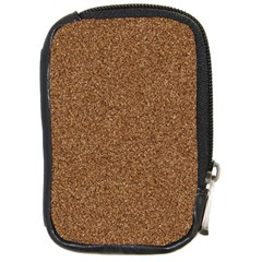 Dark Brown Sand Texture Compact Camera Cases by trendistuff