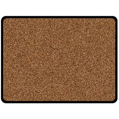 Dark Brown Sand Texture Double Sided Fleece Blanket (large)  by trendistuff