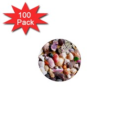 Colorful Sea Shells 1  Mini Magnets (100 Pack)  by trendistuff