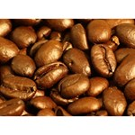 CHOCOLATE COFFEE BEANS Ribbon 3D Greeting Card (7x5)  Back