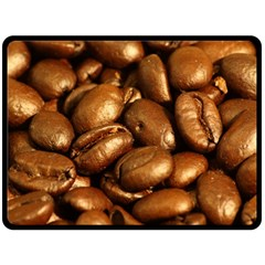 Chocolate Coffee Beans Double Sided Fleece Blanket (large)  by trendistuff