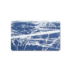 Blue And White Art Magnet (name Card) by trendistuff