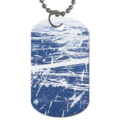Blue And White Art Dog Tag (two Sides) by trendistuff