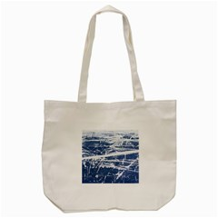 Blue And White Art Tote Bag (cream)  by trendistuff