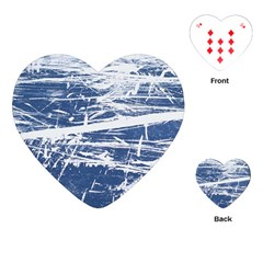 Blue And White Art Playing Cards (heart)  by trendistuff
