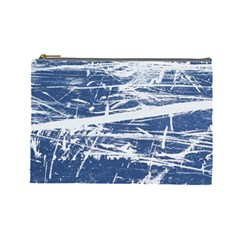 Blue And White Art Cosmetic Bag (large)  by trendistuff