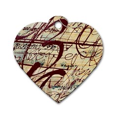 Abstract 2 Dog Tag Heart (one Side) by trendistuff