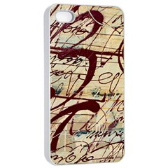 Abstract 2 Apple Iphone 4/4s Seamless Case (white) by trendistuff