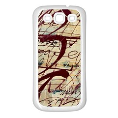 Abstract 2 Samsung Galaxy S3 Back Case (white) by trendistuff