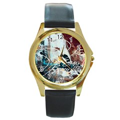 Abstract 1 Round Gold Metal Watches