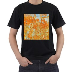 Yellow Rusty Metal Men s T Shirt (black) (two Sided) by trendistuff