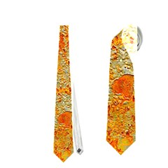 Yellow Rusty Metal Neckties (one Side)