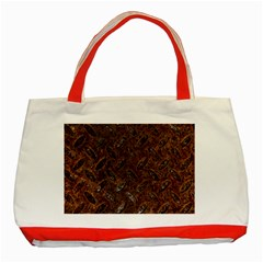 Rusty Metal Pattern Classic Tote Bag (red)  by trendistuff