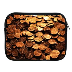 Pennies Apple Ipad 2/3/4 Zipper Cases by trendistuff