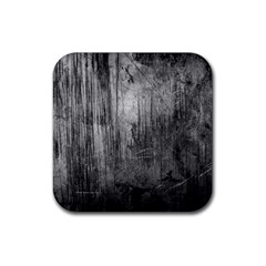 Grunge Metal Night Rubber Square Coaster (4 Pack)  by trendistuff
