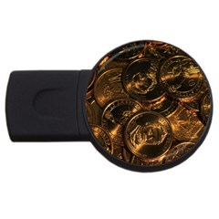 Gold Coins 2 Usb Flash Drive Round (2 Gb)  by trendistuff