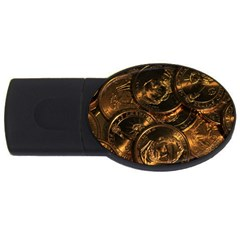 Gold Coins 2 Usb Flash Drive Oval (4 Gb)  by trendistuff