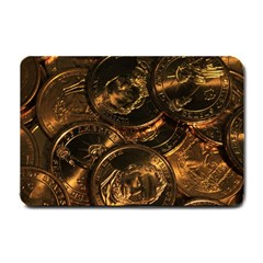 Gold Coins 2 Small Doormat  by trendistuff