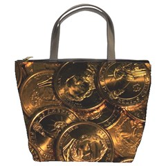 Gold Coins 2 Bucket Bags by trendistuff