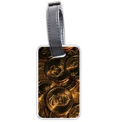 Gold Coins 2 Luggage Tags (one Side)  by trendistuff