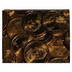 Gold Coins 2 Cosmetic Bag (xxxl)  by trendistuff