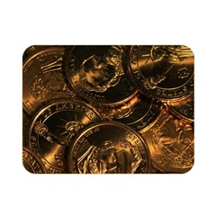 Gold Coins 2 Double Sided Flano Blanket (mini)  by trendistuff