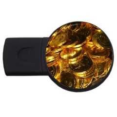 Gold Coins 1 Usb Flash Drive Round (4 Gb)  by trendistuff