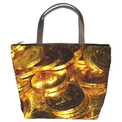 Gold Coins 1 Bucket Bags by trendistuff