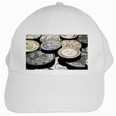 Foreign Coins White Cap by trendistuff