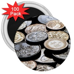 Foreign Coins 3  Magnets (100 Pack) by trendistuff